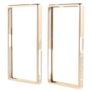 Slide-on Protective Backless Bumper for Sony Xperia Z5 Compact - Champagne