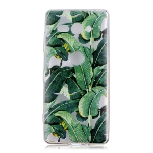 Pattern Printing Soft TPU Cover for Sony Xperia XZ2 Compact - Banana Tree