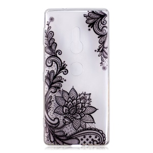 Pattern Printing Soft TPU Case for Sony Xperia XZ2 - Lace Flower