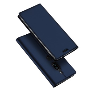 DUX DUCIS Skin Pro Series Card Holder Stand Leather Mobile Shell for Sony Xperia XZ2 Premium - Dark Blue