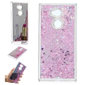 Glitter Dynamic Quicksand Mirror Surface TPU Case for Sony Xperia XA2 Ultra - Pink