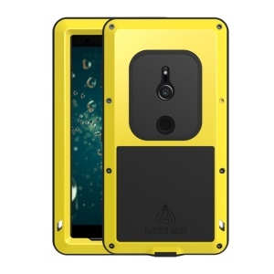 LOVE MEI Dust-proof Shock-proof Splash-proof Defender Phone Cover for Sony Xperia XZ2 - Yellow