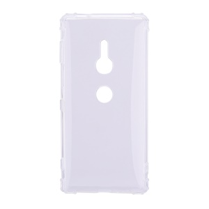 Shockproof TPU Gel Featherweight Back Case Accessory for Sony Xperia XZ3 - Transparent