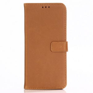 Crazy Horse Texture Vintage Leather Wallet Protection Cover Case for Sony Xperia XZ3 - Brown