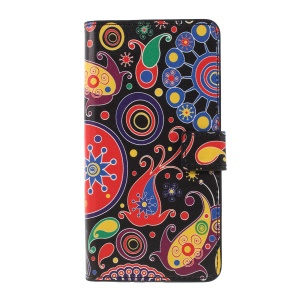 Pattern Printing PU Leather Magnetic Wallet Stand Casing for Sony Xperia XZ3 - Abstract Pattern