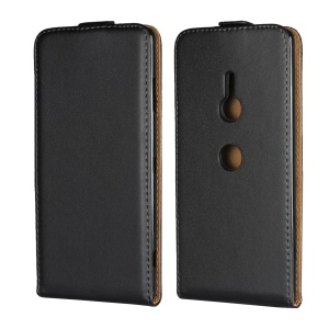 Vertical Flip Split Leather Case for Sony Xperia XZ3 - Black