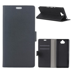 PU Leather Case with [Wallet Stand] for Sony Xperia XA3 - Black