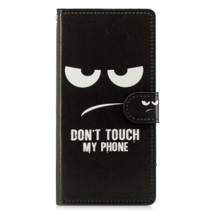 Pattern Printing Cell Phone Leather Wallet Case for Sony Xperia XZ3 - Do not Touch My Phone