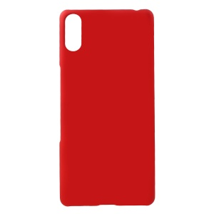Rubberized PC Hard Case for Sony Xperia L3 Ultra - Red