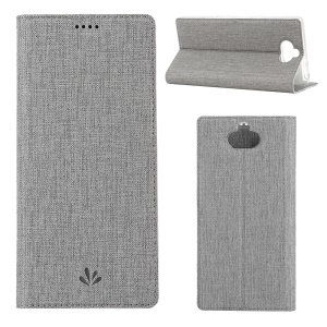 VILI DMX Auto-absorbed PU Leather Case for Sony Xperia 10 Plus - Grey