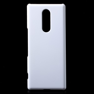 Rubberized Hard Plastic Phone Casing for Sony Xperia 1 - White
