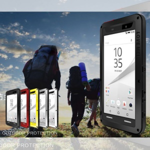 LOVE MEI Dropproof Shockproof Dustproof Case for Sony Xperia Z5 Premium / dual - Black