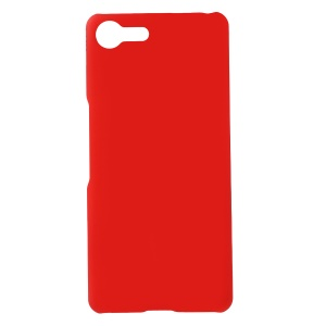Rubberized Hard Plastic Case for Sony Xperia Ace - Red