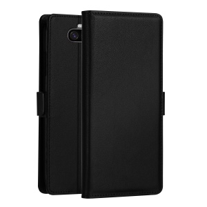 DZGOGO Milo Series Wallet Leather Stand Case for Sony Xperia 10 Plus - Black