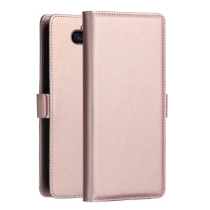 DZGOGO Milo Series Wallet Leather Stand Case for Sony Xperia 10 Plus - Rose Gold