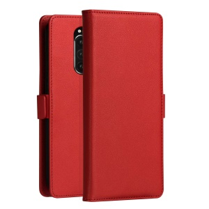 DZGOGO Milo Series Wallet Leather Phone Case for Sony Xperia 1 - Red