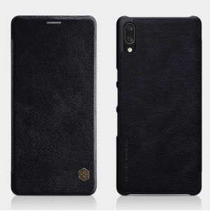 NILLKIN Qin Series Leather Card Holder Case for Sony Xperia L3 - Black