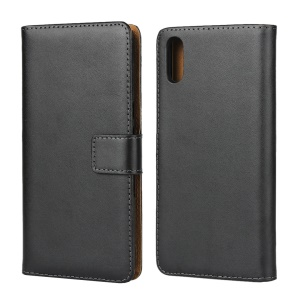 Genuine Leather Shell with Stand Wallet for Sony Xperia L3
