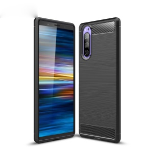 Carbon Fibre Brushed TPU Case for Sony Xperia 2 - Black