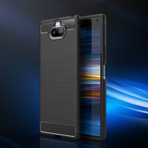 Carbon Fibre Brushed TPU Case for Sony Xperia 20 - Black