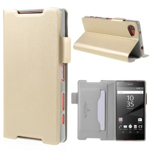 DOORMOON PU Leather Stand Case for Sony Xperia Z5 Compact - Champagne