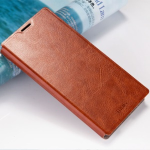 MOFI Rui Series Leather Stand Case for Sony Xperia M5 E5603 / M5 Dual E5633 - Brown
