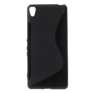 S Shape TPU Case for Sony Xperia XA / XA Dual - Black