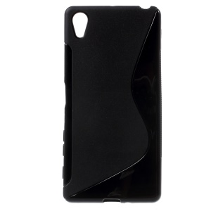 S Shape TPU Case for Sony Xperia X - Black