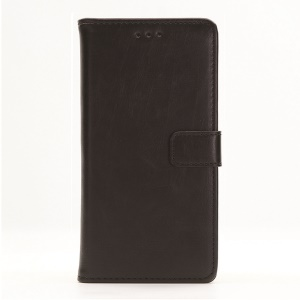 Crazy Horse Texture Wallet Leather Case for Sony Xperia X - Black