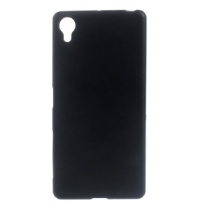 Frosted TPU Gel Phone Back Case for Sony Xperia X - Black
