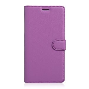 Litchi Skin PU Leather Stand Case for Sony Xperia XA Ultra - Purple