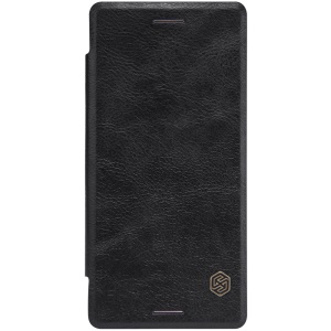 NILLKIN Qin Series Card Holder Leather Case for Sony Xperia X Performance - Black