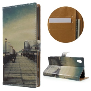 Wallet Leather Phone Case for Sony Xperia X Performance - Seaside Trestle