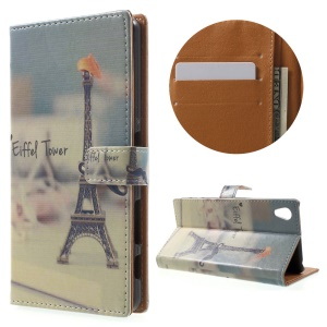 Wallet Leather Magnetic Case for Sony Xperia X Performance - Eiffel Tower