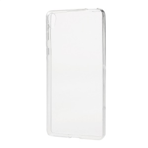 Glossy TPU Gel Case Protector for Sony Xperia E5 - Transparent