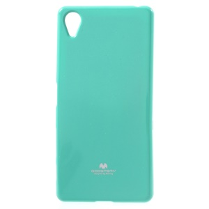 MERCURY GOOSPERY Glitter Powder Soft TPU Cover for Sony Xperia X - Cyan