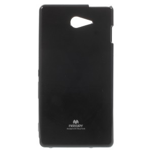NEWSETS MERCURY Flash Powder Jelly TPU Case for Sony Xperia M2 / M2 Dual - Black