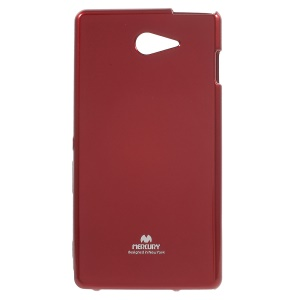 NEWSETS MERCURY Flash Powder Jelly TPU Phone Cover for Sony Xperia M2 / M2 Dual - Red