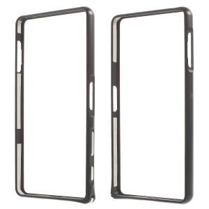 Plating Metal Bumper with Hippocampal Buckle for Sony Xperia X Performance - Black