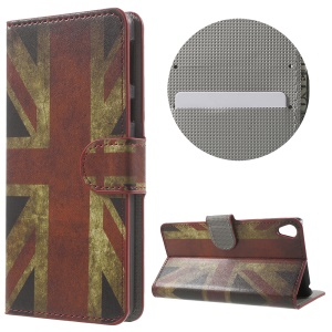 Leather Wallet Stand Case for Sony Xperia E5 - Union Jack
