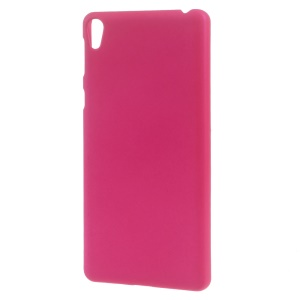 Rubberized Plastic Case Phone Cover for Sony Xperia E5 - Rose