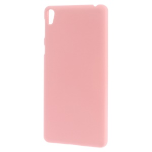 Rubber Coating Hard Back PC Case for Sony Xperia E5 - Pink