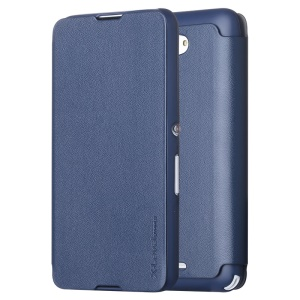 X-LEVEL Flip Leather Protective Cover with Stand for Sony Xperia E4 / E4 Dual - Dark Blue