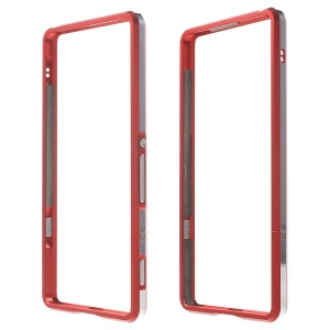Aluminum Alloy Impact Protection Bumper Shell for Sony Xperia XA / Dual - Red