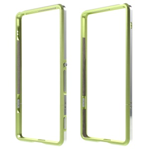 Aluminum Alloy Bumper Shell Case for Sony Xperia XA / Dual - Green