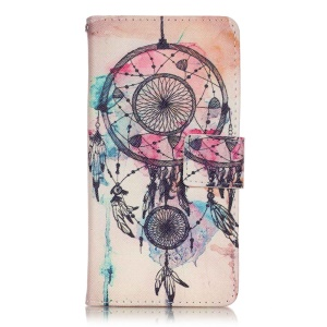 Magnetic Leather Wallet Case for Sony Xperia XA/XA Dual - Watercolor Dreamcatcher