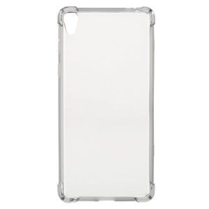 Drop-proof TPU Skin Case Cover for Sony Xperia E5 - Grey