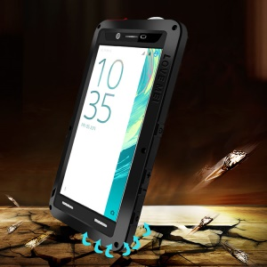 LOVE MEI para Sony Xperia X Shockproof Dropproof Dustproof Protection Case - negro