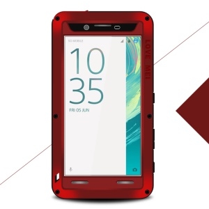 LOVE MEI for Sony Xperia X Shockproof Drop-proof Dust-proof Protector Cover Case - Red