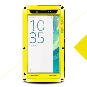 LOVE MEI Shockproof Dropproof Dustproof Protection Phone Case for Sony Xperia X - Yellow